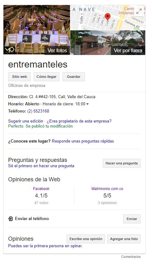 entremanteles-google-ranking
